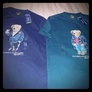 2 Ralph Lauren Polo Bear MEDIUM T's.